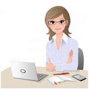 働く女性デスク